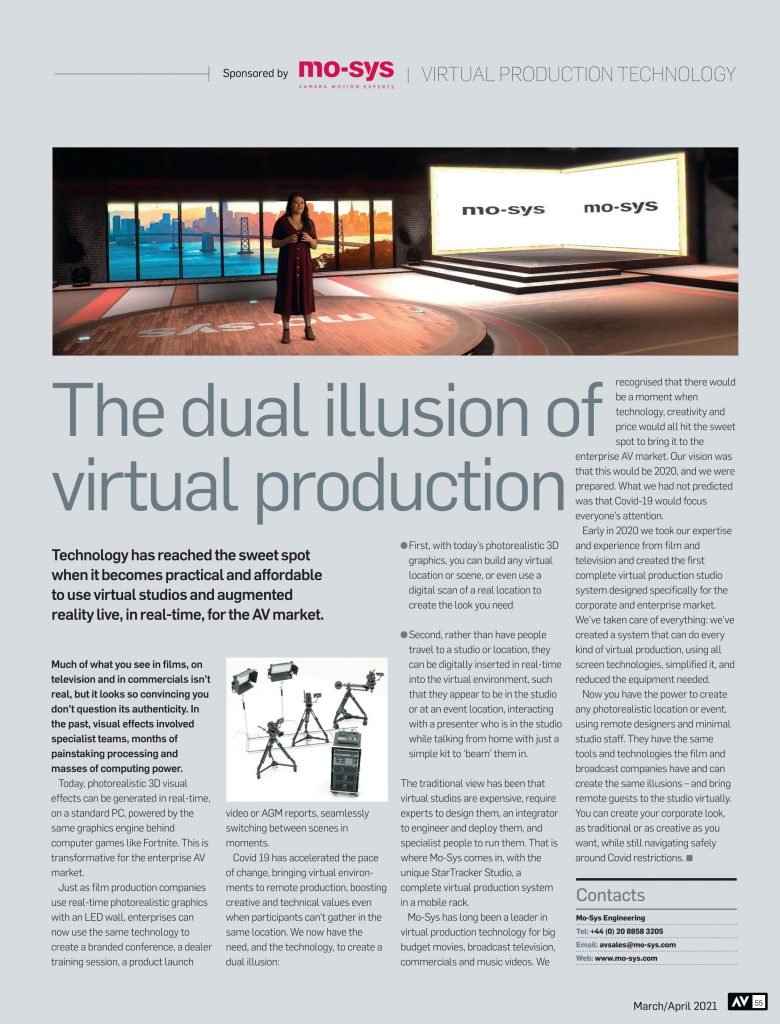The dual illusion of virtual production